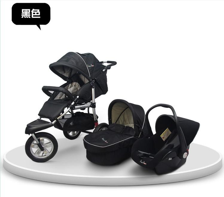 2017 High Quality Luxury 3 In 1 Baby Car Trolley With The Bassinet ...