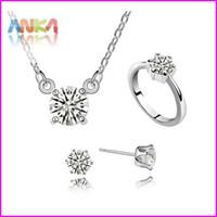 Bracelet,Earrings & Necklace Women's Anniversary Hot selling! Free Shipping wedding Dresses Jewelry Sets Women Fashion Necklace Earrings #93608