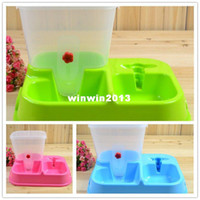 Automatic Feeders & Waterers Ceramic Indoor Wholesale - Automatic feeder water dispenser water dispenser dog bowl set pet supplies