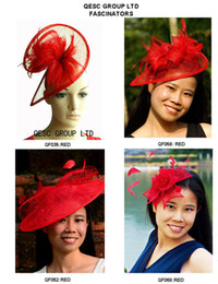 NEW RED Sinamay Fascinator Hat for kentucky derby, wedding and party.FREE SHIPPING.MIX STYLES .Can t pick the styles.