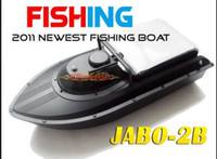 Wholesale JABO BS Remote Control Bait rc boat With Fish Finder Upgrade JABO B Jabo bs b RTR RC boat built in battery DHL Free