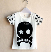 Unisex Summer Standard Short Sleeve T Shirt Kids Clothing Children T Shirts Tee Shirt Cotton Shirts Baby Clothes Boy And Girl Skull Pattern T Shirt Cool Shirts