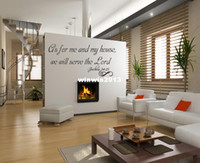 Graphic vinyl bible house - As for me and my house we will serve the Lord Vinyl Wall Decal Art Christ Bible