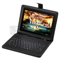 Wholesale Lovely Q88 quot Android A13 Tablet PC GB MB Dual Camera MID iRuLu Kids Tablet Bundle Keyboard Case