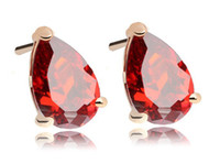 Wholesale Garnet amp Champagne Cubic Earrings