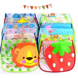 Wholesale Baby Infant Plastic Bibs Waterproof Baby Bibs Feeding with pocket Feeder Bib Saliva towel Waterproof designs