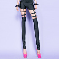 Leggings Women other Bossy lady2013 fashion sexy unique cutout grid swimwear fabric satin skinny legging pants