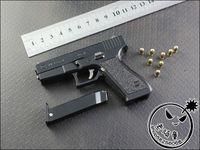 Balls 3 & 4 Years Boys 1 2.5 metal simulation Austrian Glock 22 Glock Holster handgun police pistol toy gun model