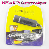 Wholesale 100pcs VHS to DVD Converter Adapter VIDEO CAPTURE CARD Easycap USB Video TV DVD VHS Capture Adapter For Win7 XP