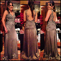 2014 Sheer Luxury Brown Wedding Evening Dresses Shiny Crysta...