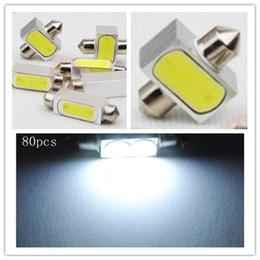 Wholesale 80X High Power W C5W Auto Car Festoon LED Licence Plate Light Aluminum housing Interior Dome lamp