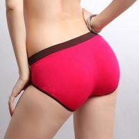 nylon panties - Women sexy seamless sports panties Bodybuilding ventilate lift hips cotton nylon briefs underpants M L multicolor