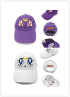Wholesale Sailor Moon Cat Baseball Hat Cosplay Halloween Costume Hats USA Kids Hats Caps Style