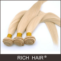 Straight Brazilian Hair Brand Owner 3 pcs Lot Brazilian Virgin hair bundles 8-30 inch Color 613# Light Blond Straight Hair Unprocessed Human Virgin Hair Extension