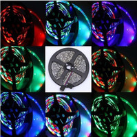 Wholesale Superbright meter roll RGB SMD led M Flexible LED Strip Light leds IP65 waterproof changeable color Home Decoration led strips