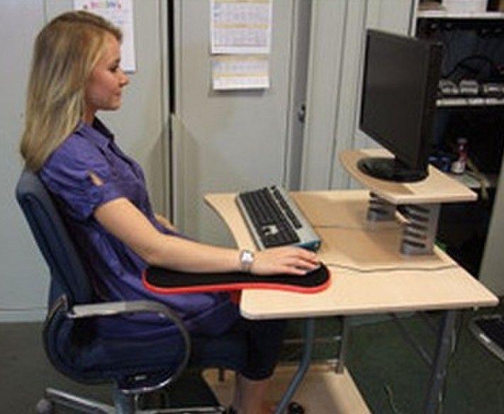 Home Office Computer Arm Rest Chair Desk Armrest Mouse Pad