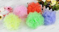Wholesale LLFA3781 Mesh Pouf Sponge Bathing Spa Shower Scrubber Ball Colorful Bath Brushes Sponges