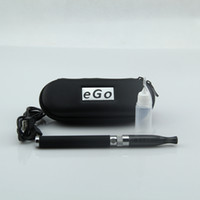 Electronic Cigarette Set Series Stainless Steel Electronic Cigarette e Cigarette Kit H2 atomizer + eGo passthrough Battery 650mah-1100mah with eGo zipper case for Free Shipping