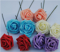 Wholesale 5 Colors cm Artificial Foam Rose Flower Handmade DIY Wedding Home Decoration Artificial Rose Flower L457
