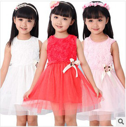 Wholesale New arrival baby girl summer dress Fashion girl dress rose flower dress Children s dress erbaby
