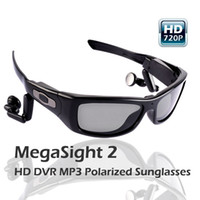Wholesale HOT SALE GB undetectable lens spy Mega pixels HD DVR Sunglasses with MP3 player Web Camera Function