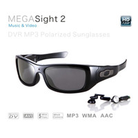 Wholesale Music glasses GB undetectable lens spy sunglasses Mega pixels HD DVR Sunglasses with MP3 player Web Camera Function