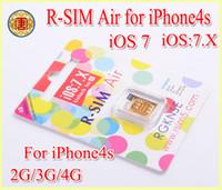 Unlocking Card air sms - Original RSIM Air Unlock Card IOS IOS7 X R Sim RSIM R SIM Air AUTO Unlock Iphone S Sprint SMS G G G