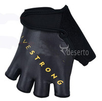 Wholesale 2013 New arrival Half Finger LIVESTRONG Cycling Gloves ciclismo Guantes Quick Dry Bicycle Racing Gloves bike gloves black for mens womens