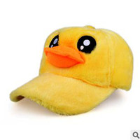 Cheap Rubber Duck Snapback For Women Yellow Color Soft Hair 2013 5pcs Lot Free Shipping 1209B8