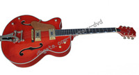 Wholesale Red color Hollow Jazz Guitar high quality OEM Acoustic Left handed Guitar