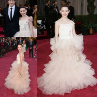 Reference Images Girl Beads Baby Dress For Girls Organza Pink Fatima Ptacek Long Tulle Crystals Appliques Little Girl's Pageant Dresses Glitz 2014 Kids Party Ball Gowns