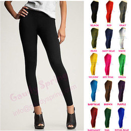 Wholesale NEW LADIES BASIC ULTRA STRETCH PANTS TIGHTS BLACK FULL LENGTH LEGGINGS XS S M L