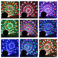 Wholesale Stylish W DMX Voice Activated RGB LED Crystal Magic Ball Laser Effect Light For Disco DJ Party Bar KTV Christmas Show Mix Colors