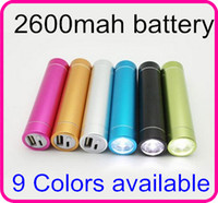 Wholesale 600pcs mah Portable power bank Metal External Mobile Battery Charger USB Micro USB for iphon s c Samsung s3 S4 HTC Best Quality