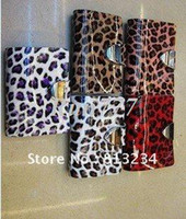 Wholesale New brand Women s Genuine leather ID Credit card holder with HASP Multi color T4