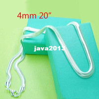 Wholesale Silver mm snake Herringbone CHAIN Necklace inch sterling silver necklace FASHION JEWELRY