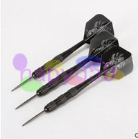 Wholesale 3pcs free ship g iron nickel black anti wrestling professional dart hard darts removable dart shaft flight needle