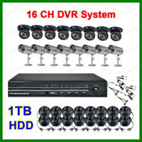 Wholesale Home CCTV Security CH H Network DVR Video System TVL With Day Night Camera For Indoor Outdoor With TB HDD