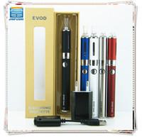 Wholesale Electronic cigarette evod twist mt3 gift box kit e cigaretteego evod twist battery e cig mt3 atomizer jinfushi