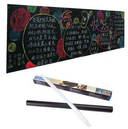 Home Stick Blackboard Wall Sticker Chalkboard Decal Peel & Stick on wall paper Black color(Size:45x200cm)