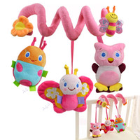 Wholesale New Arrival Lovely Baby Educational Animal Crib Plush Rattles Kids Infant Cartoon Musical Bed Hanging Toy years