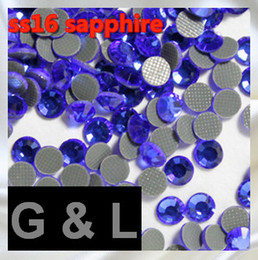 1440 pcs ss16 sapphire Free shipping DMC hot fix rhinestones flat back rhinestones High Quality