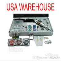 1 Gun Professional Kit Permanent makeup kits USA Dispatch Professional complete cheap tattoo permanent kits guns machines 3 ink sets equipment power tips needles free shipping WenM-011