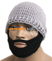 Wholesale Tactical Beard Owners Club Beard Mask Hand Knitted Hat Grey Cap Optional Beard SKU12050202