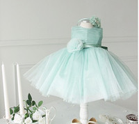 Wholesale The Same Photo Flower Girls Beauty Pageant Dress Rose Flower Gauze Children Wedding Dress Baby Kids Performing Dresses QZ352