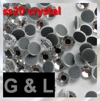 Wholesale 1440pcs ss20 crystal DMC hot fix rhinestones flat back rhinestones High Quality