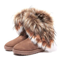 Wholesale S5Q New Autumn Winter Women Snow Boots Ankle Boots Warm Fur Shoes AAACPD