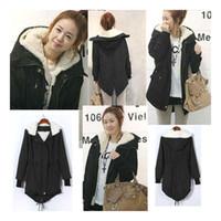 Women Hooded Long Sleeve S5Q Women Lady Warm Winter Hooded Parka Overcoat Long Coat AAACPH