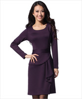 Wholesale Plus Size Long Dress Beam Waist Women W3311