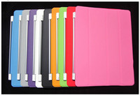 Protective Shell/Skin apple ipad connections - Smart Cover for the new iPad Air Magnetic Connection Thin Design Polyurethane Material Wake and Sleep Function Colors